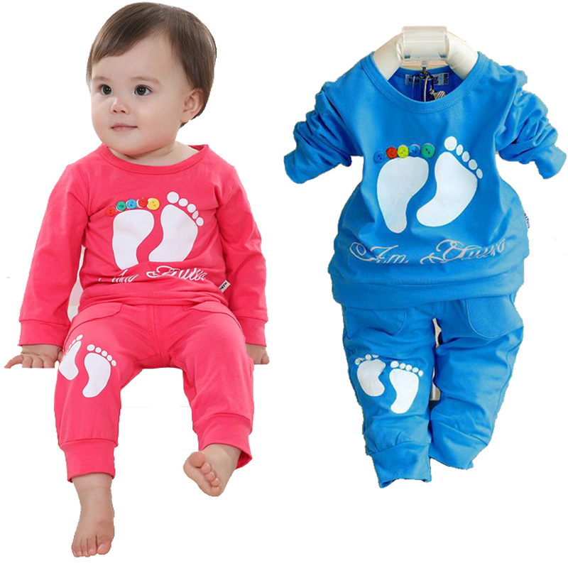 Kids clothes cotton baby girl clothing set fashion suit infant brand children clothing new girls outfits shirt + trousers unisex