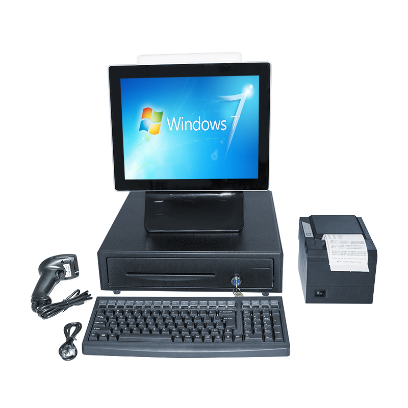 Black color single screen ALL IN ONE POS TERMINAL flat touch