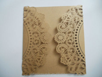 rustic gate fold laser cut wedding invitations buy laser cut