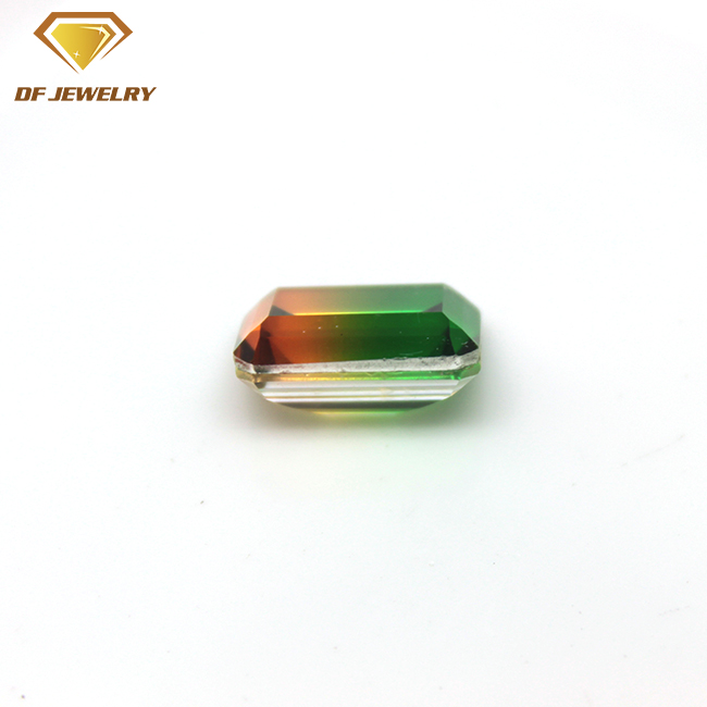 Rectangle Cut Green Gemstone Lab Created Tourmaline