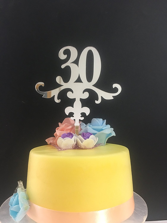 ShinyBeauty Birthday Cake Topper 30thAnniversary TopperCustomize With Any
