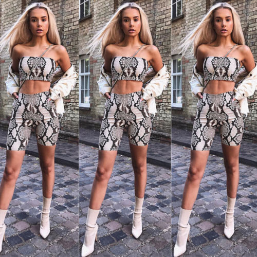 ST28 Frauen Herbst Casual Shinny Rohr Top Shorts Bodycon Zwei Stück Set Outfits Kurze Sport Overall Sets