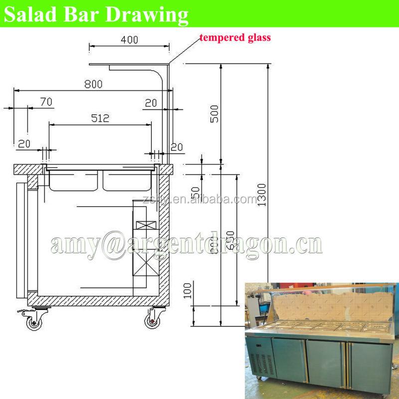 Salad Bar - Buy Salad BarSalad ChillerSalad Refrigeration Table Product On Alibaba.com