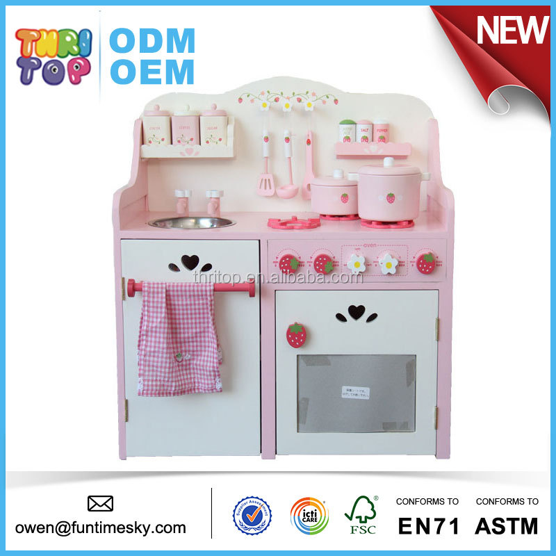 2017 High Quality Play House Kids Kitchen Sets Toys for Girls