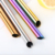stainless steel bubble tea straws 12mm  Inclined mouth