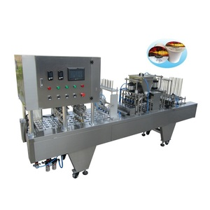 Automatic cup filling and sealing machine for make milk/juice/yogurt/jelly/water