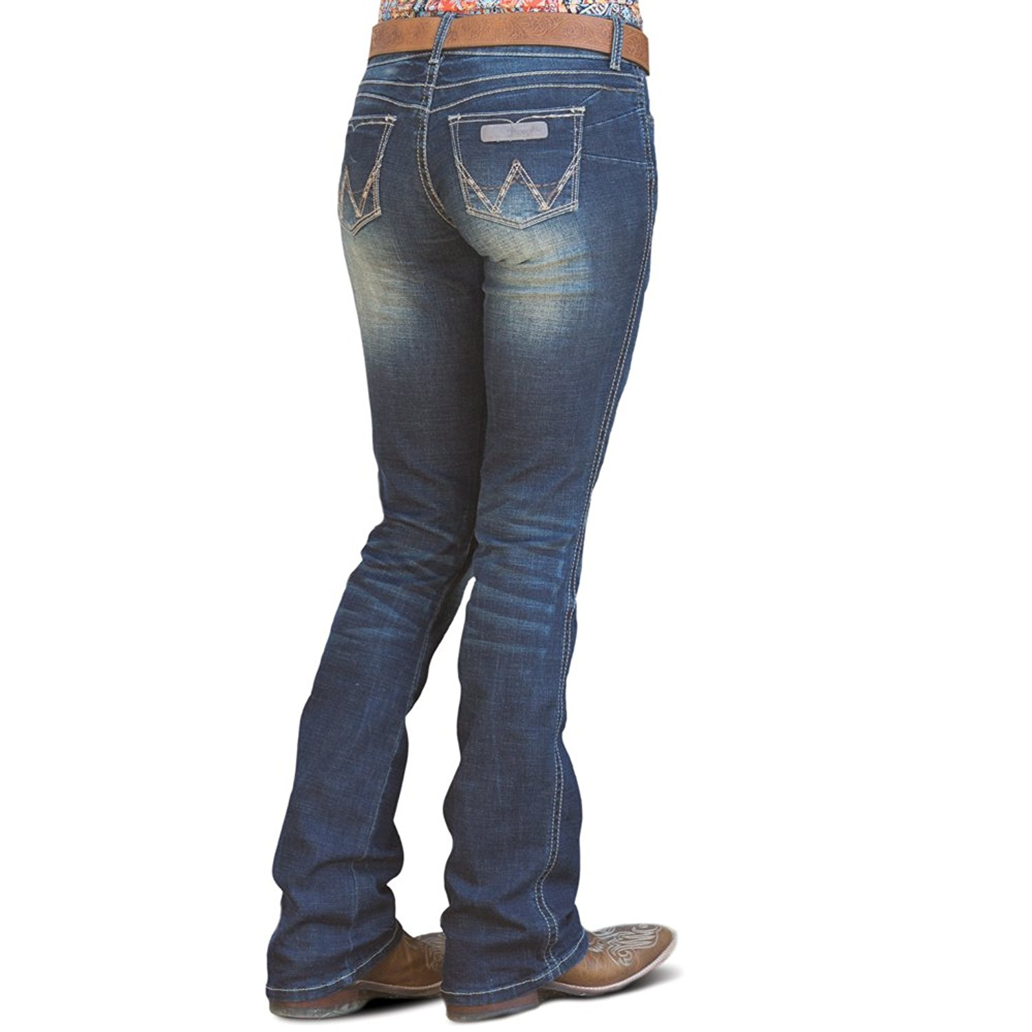 d358f1f0 Buy Wrangler Womens Premium Patch Booty Up Technology Sits Above Hip ...