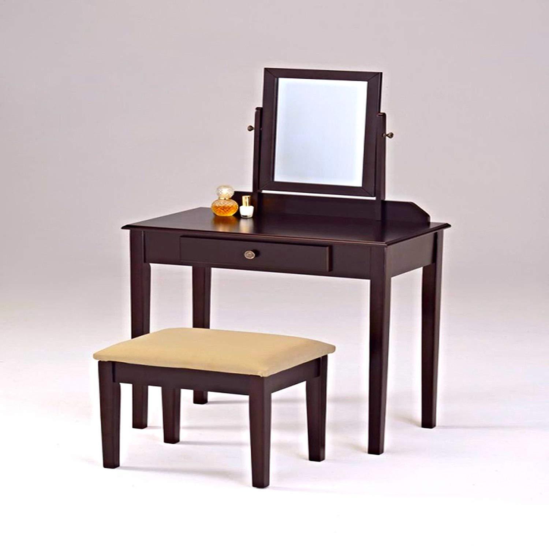 Get Quotations · Generic Akeup T Makeup Table Furnit Cosmetic Desk Metic  Desk Stool Seat Bedroom Sk Drawer Chair