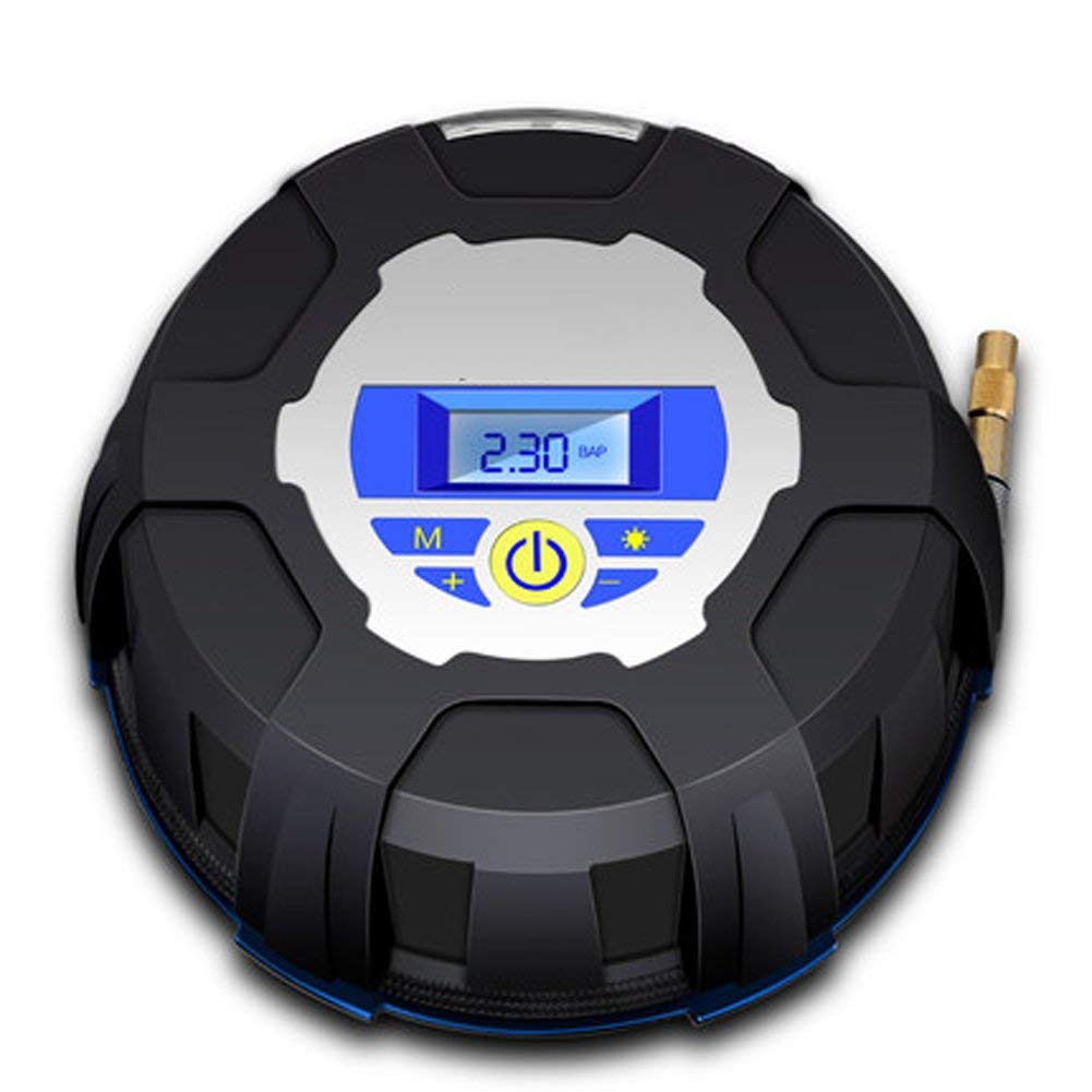 Q&FTyre Inflator With Air Hose 12v Digital Tire Inflator With Accurate Reading Air Pressure Gauge For Vehicles,Motorcycle