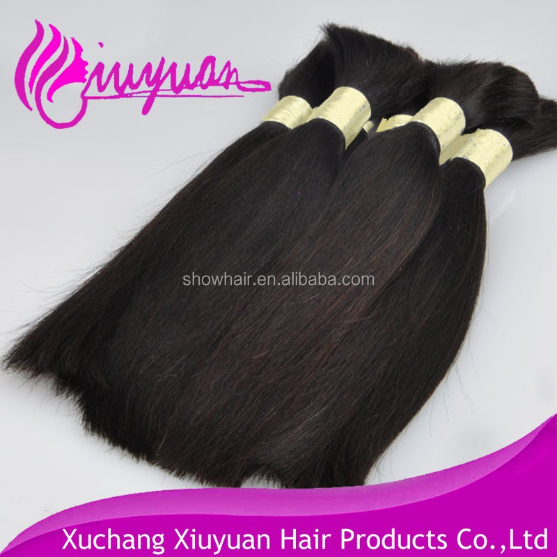 Raw material for hair extension unprocessed virgin human hair natural black