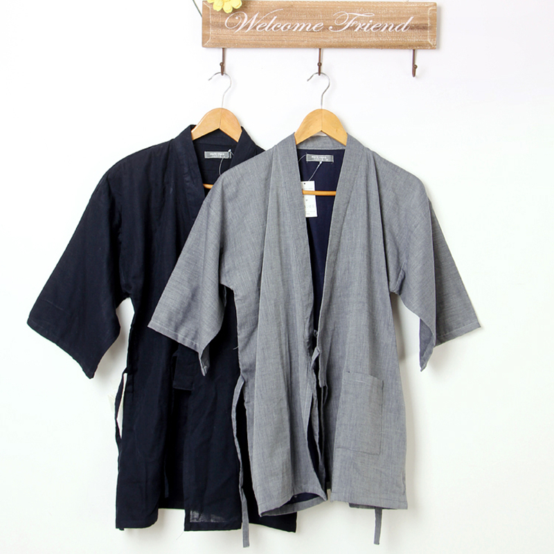 coton yukata japonais kimono traditionnel japonais hommes v tements pyjama japonais hommes salon. Black Bedroom Furniture Sets. Home Design Ideas