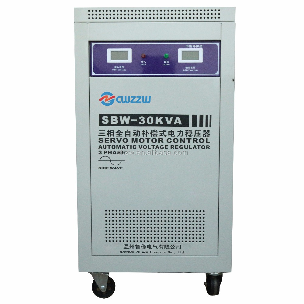 PLC LED Display 30KVA 3 Phase Voltage Stabilizer