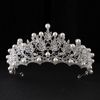 Bride Clover Bridal Crown Hand Beaded Hair Accessories Wedding Accessories Crown