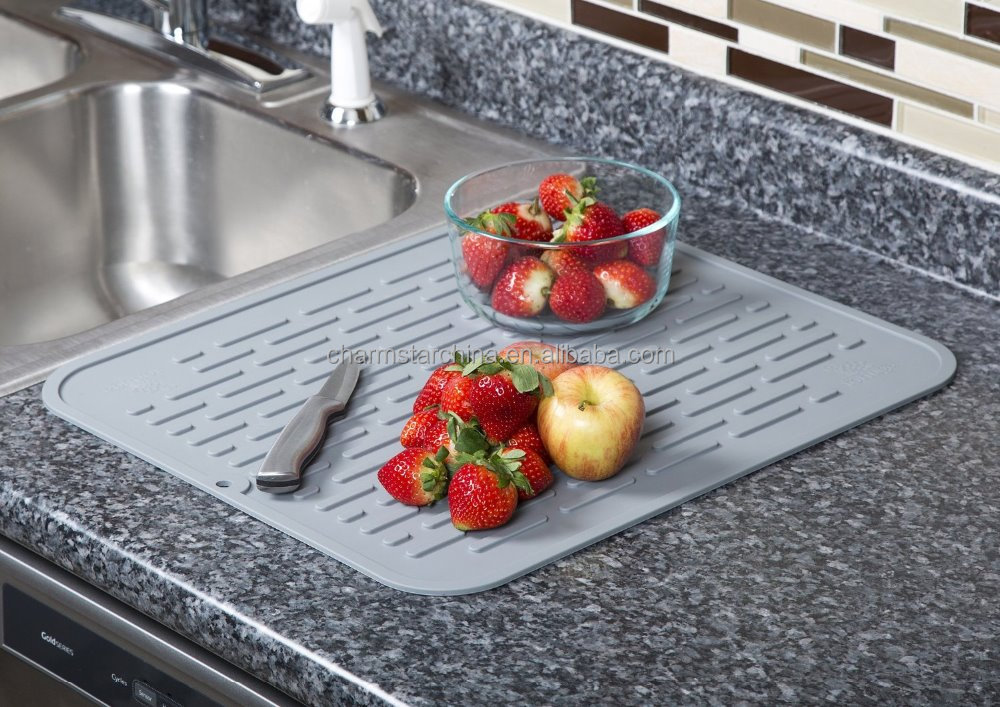 Hot On 17 8 15 8inch Extra Large Sink Mat Original Dish Drying Silicone