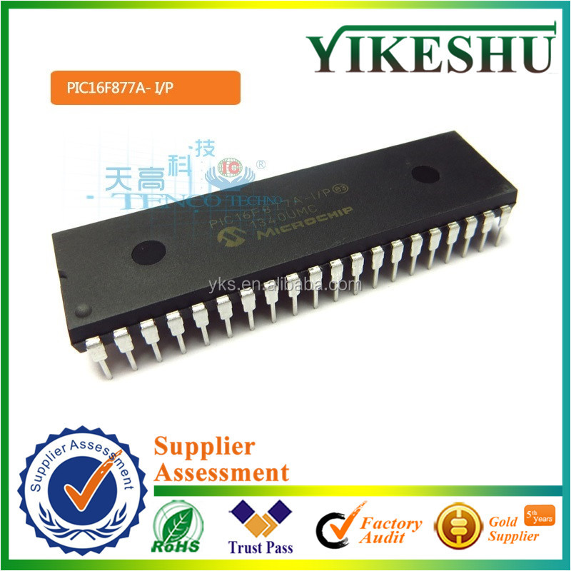 factory price, PIC16F877A, PIC16F877A-I/P, Microchip, Flash Microcontroller, DIP40, IC
