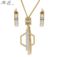 Woman Fancy Crystal Rhinestone Necklace Jewelry Set