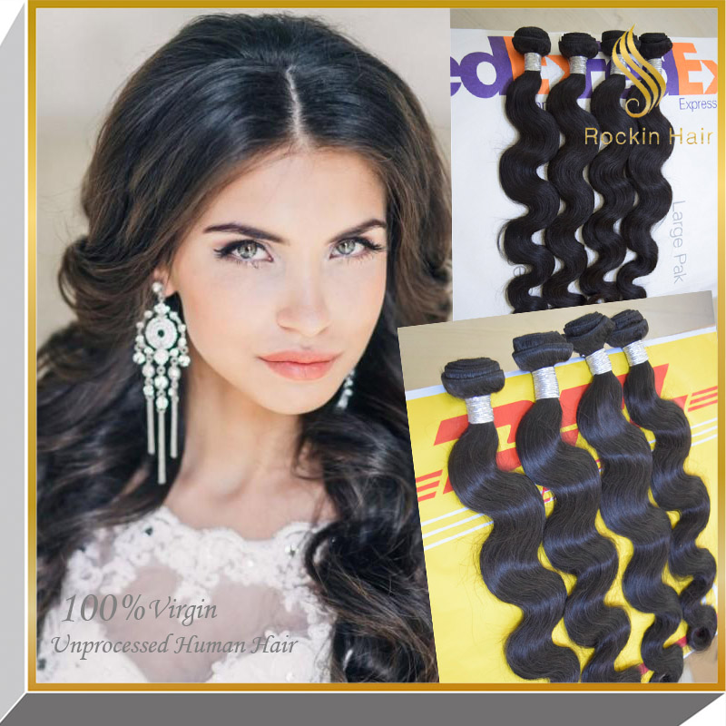 100% brazilian human virgin hair extensions hot selling in canada DHL fst shipping for only 1-2days