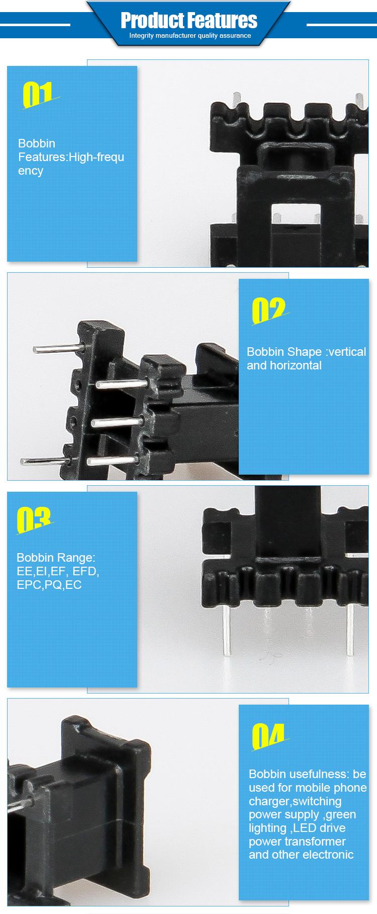 EE tafel transformator in meubels EE/EC/EPC/RM/PQ/EFD Fenol/Bakeliet/ plastic Transformator Spoel