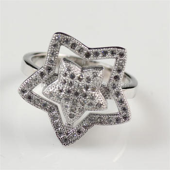 Fashion Turkish Silver Jewelry Sterns Wedding Rings Catalogue Price Star  Shape