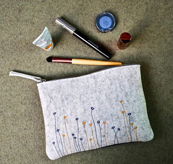 Felt Cosmetic Bag for <strong>Travel</strong>