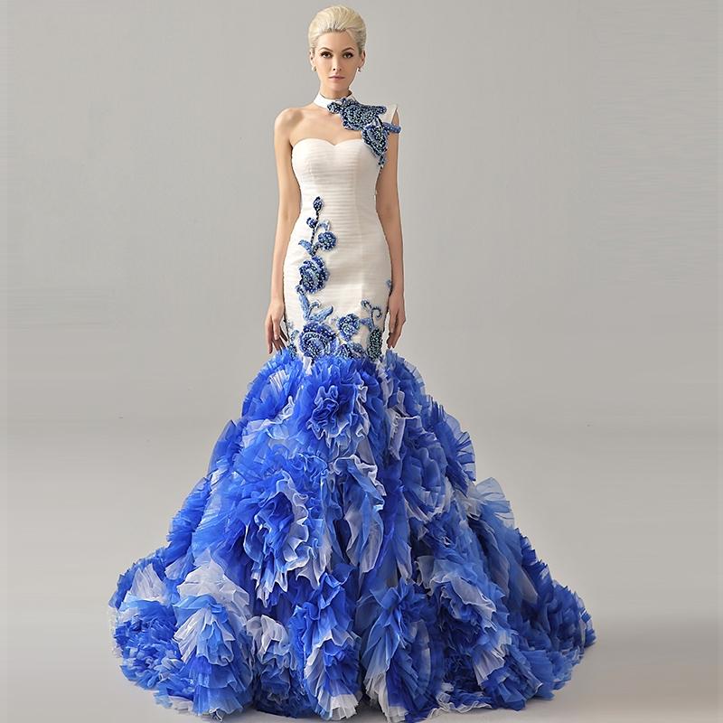Blue And White Wedding Dresses Fashion Dresses