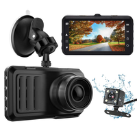 TOP selling dual lens car dash cam 1812V car blackbox dvr mini car video monitor user manual strong night vision