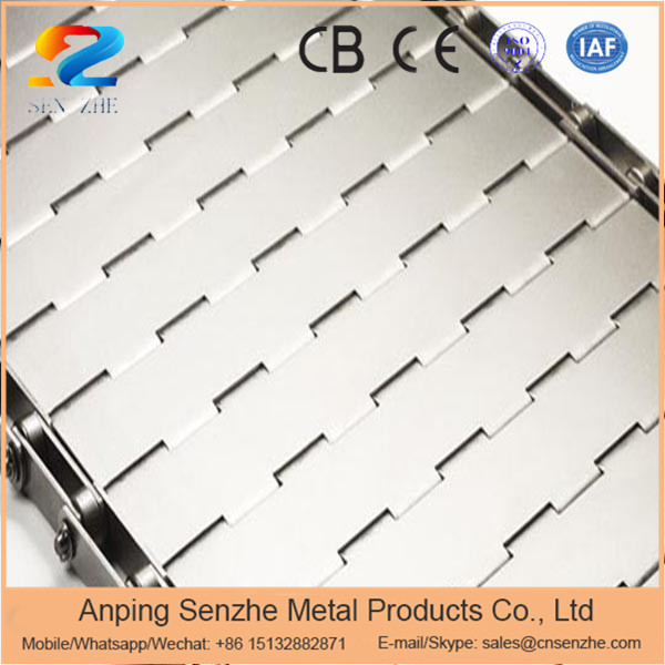 straight running or turn ss or iron steel plate link wire mesh slat conveyor belt for barkey ovens