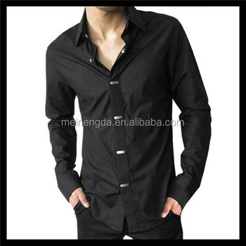 1a4f10095fc best selling latest collection stylish long sleeve mens plain black t shirt