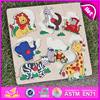 2016 wholesale cheap animal shape wooden puzzles for babies W14M087-S