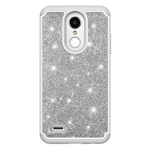 WHOLESALE GLITTER STAR shining hard PC 2 in 1 CELL Phone case For LG Aristo 2 plus