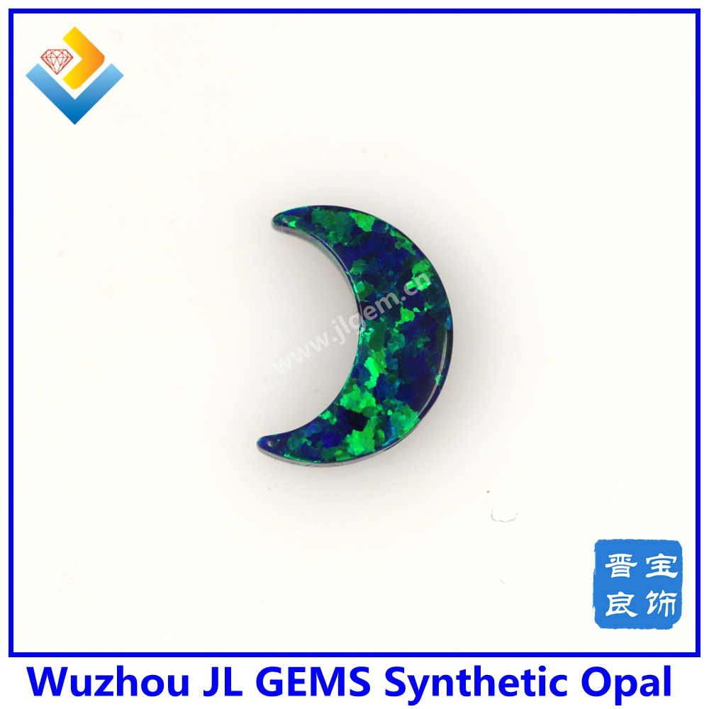 Synthetic op19 opal drilled half moon opal necklace DIY jewelry making