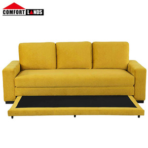Hot sale 3 seater pull out couch sofa bed with flocking fabric