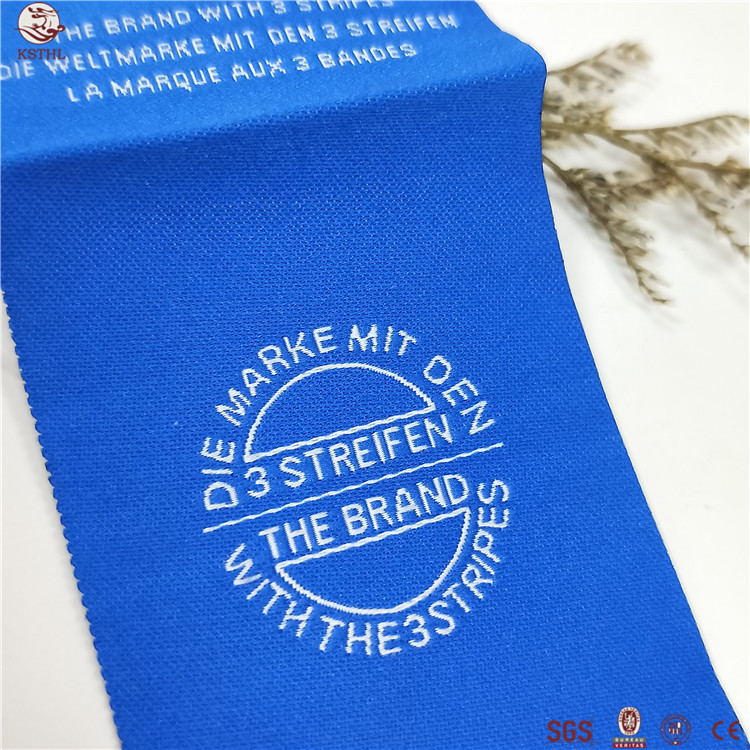2018 best selling heat transfer care label tagless heat transfer clothing label