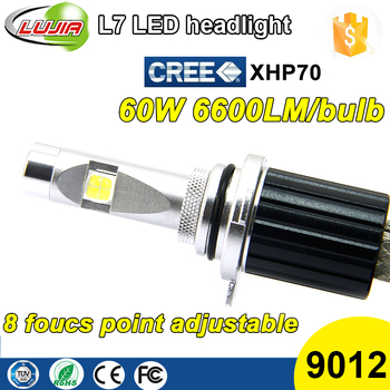 2017 4300K 6000K L7 xhp70 9012 car led headlight bulb H11 H4 H13 H18 9012 9005(BH3) 9006(HB4) d1s d2s d3s d4s kit