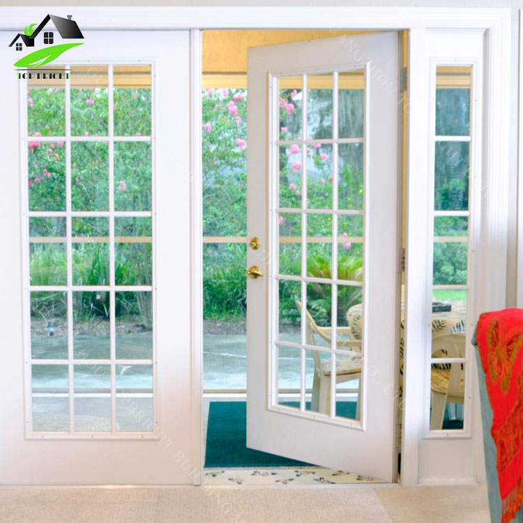 Security interior frosted glass aluminum alloy bathroom casement doors