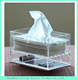transparent acrylic plastic Tissue box restaurant napkin holder/dispenser