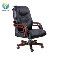 factory sale antique black ergonomic desk task wood base boss office Chair