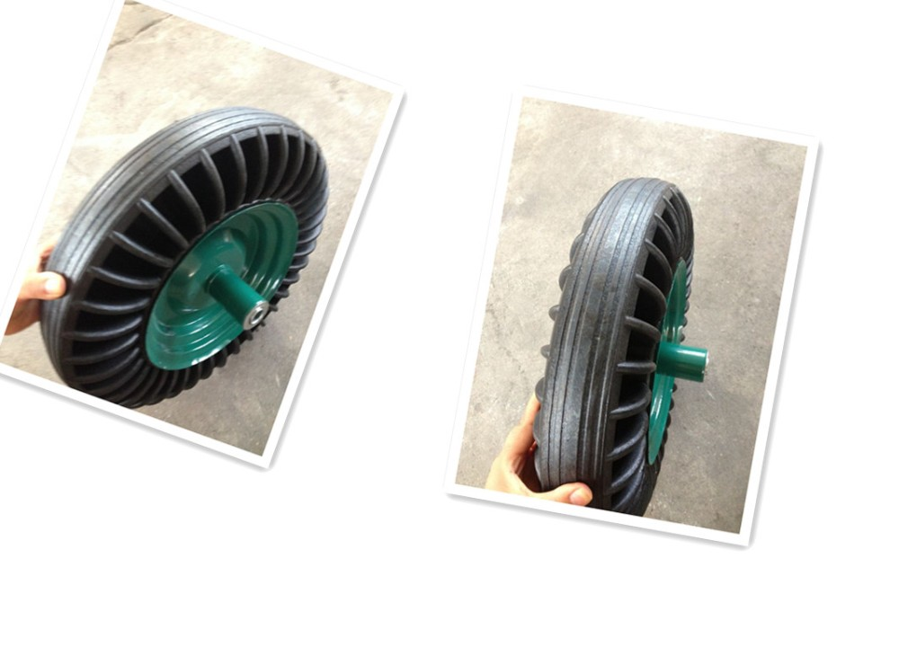 jiaon factory 4.00-8 solid rubber wheel used for wheelbarrow