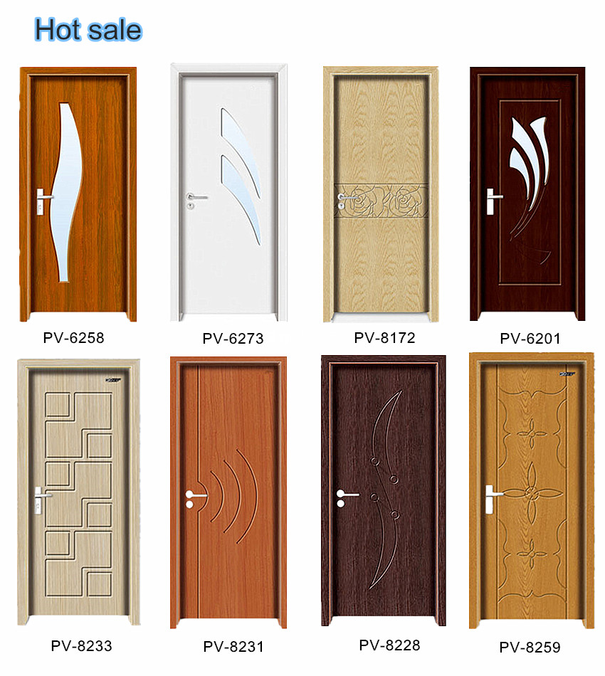 Latest design wooden doors mdf pvc wooden doors design for Door design picture