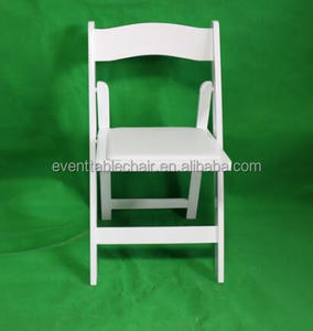 hot sale beech wood white Wimbledon Chair folding wedding chair