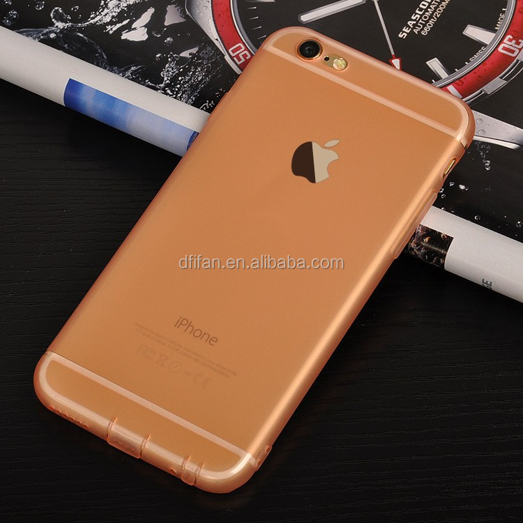 DFIFAN for iPhone, Matte Back Touch Feeling Ultra Thin Slim Soft TPU Fashion Candy Color Skin Case Shell for Apple iPhone 6 6s