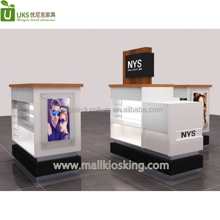 shopping mall sunglass display kiosk | eyewear glasses kiosk for sale
