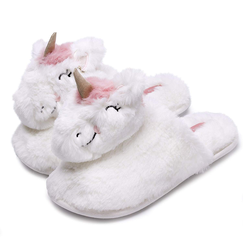 f5e66f28494 Get Quotations · Caramella Bubble Unicorn Animal Slippers