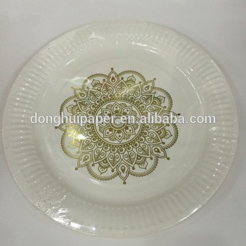 gold foil disposable oval/custom printed plate/custom made dinner shaped paper plates : custom made dinner plates - pezcame.com