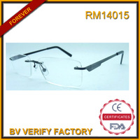 RM14015 Wholesale ultem reading glasses frameless meet ce