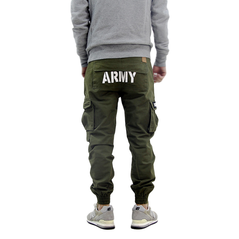 Black cargo pants for men