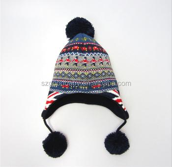 British Flag Winter Baby Wool Hats Kids Boys Pom Pom Hats - Buy ... 5917942dd53