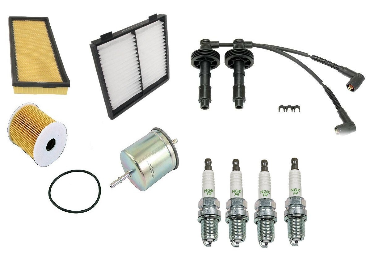 Tune up Kit Filters NGK Spark Plugs Wires Cabin Volvo V40 S40 1.9L Turbo 2001 2002 2003 2004