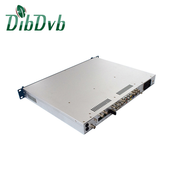 digital tv headend equipment ip to hd h.265 sdi decoder with dvb-s2/t2/c tuners input support biss