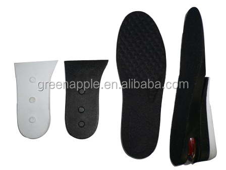 3 Layers Men Up Air Cushion Height Increase Elevator Heel Lifts 2.5 inches Taller Shoe Insole